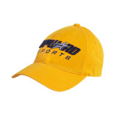 Gold Twill Unstructured Low Profile Hat-Upward Sports