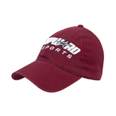 Maroon Twill Unstructured Low Profile Hat-Upward Sports