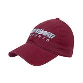 Maroon Twill Unstructured Low Profile Hat-Upward Sports