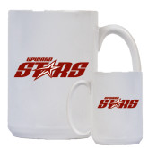 Full Color White Mug 15oz-Upward Stars