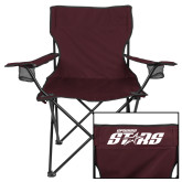 Deluxe Maroon Captains Chair-Upward Stars
