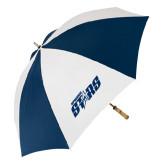 62 Inch Navy/White Umbrella-Upward Stars