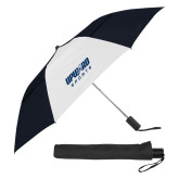 42 Inch Slim Stick Black/White Vented Umbrella-Upward Sports