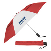 42 Inch Slim Stick Red/White Vented Umbrella-Upward Sports