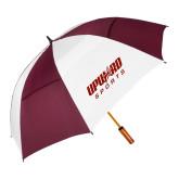62 Inch Maroon/White Umbrella-Upward Sports