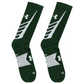 Under Armour Green/White Undeniable Crew Sock-