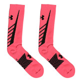 Under Armour Pink/Black Undeniable Crew Sock-