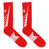 Under Armour Red/White Undeniable Crew Sock-
