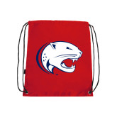 Red Drawstring Backpack-Jag Head