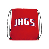 Red Drawstring Backpack-Jags Arched