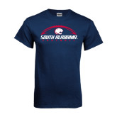 Navy T Shirt-South Alabama Football Arched