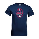Navy T Shirt-Jags Football Tall