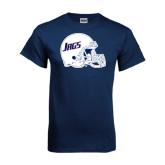 Navy T Shirt-Jags Helmet