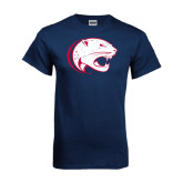 Navy T Shirt-Jag Head Distressed