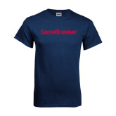Navy T Shirt-South Alabama Flat Logo