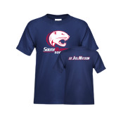 Youth Navy T Shirt-Softball