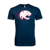 Next Level SoftStyle Navy T Shirt-Jag Head