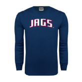 Navy Long Sleeve T Shirt-Jags Arched