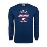 Navy Long Sleeve T Shirt-Jaguars Softball Seams