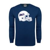 Navy Long Sleeve T Shirt-Jags Helmet