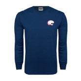 Navy Long Sleeve T Shirt-Jag Head