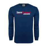 Navy Long Sleeve T Shirt-South Alabama Jaguars