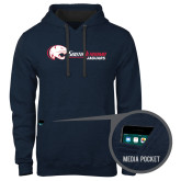 Contemporary Sofspun Navy Heather Hoodie-Jaguar Head w/ Flat Logo