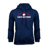 Navy Fleece Hood-South Alabama Football Arched