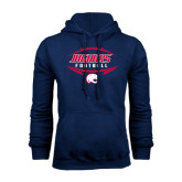 Navy Fleece Hood-Jaguars Football In Ball