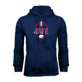 Navy Fleece Hood-Jags Football Tall