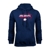 Navy Fleece Hoodie-Jaguars Football Stacked