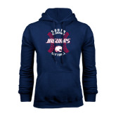 Navy Fleece Hood-Jaguars Softball Seams