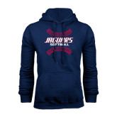 Navy Fleece Hoodie-Jaguars Softball Seams Horizontal