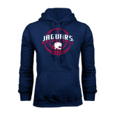 Navy Fleece Hood-Jaguars Basketball In Ball