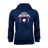 Navy Fleece Hood-Jaguars Basketball Arched In Ball