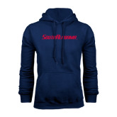 Navy Fleece Hoodie-South Alabama Flat Logo