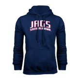 Navy Fleece Hood-Jags South Alabama Arched