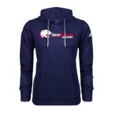 Adidas Climawarm Navy Team Issue Hoodie-Jaguar Head w/ Flat Logo