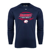 Under Armour Navy Long Sleeve Tech Tee-Jaguars Football In Ball