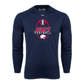 Under Armour Navy Long Sleeve Tech Tee-Jags Football Tall