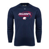 Under Armour Navy Long Sleeve Tech Tee-Jaguars Football Stacked