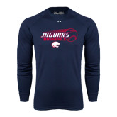 Under Armour Navy Long Sleeve Tech Tee-Jaguars Baseball Flying Ball