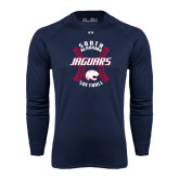 Under Armour Navy Long Sleeve Tech Tee-Jaguars Softball Seams