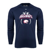 Under Armour Navy Long Sleeve Tech Tee-Jaguars Basketball Arched In Ball