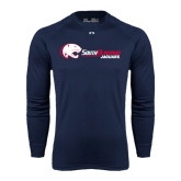 Under Armour Navy Long Sleeve Tech Tee-Jaguar Head w/ Flat Logo