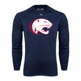 Under Armour Navy Long Sleeve Tech Tee-Jag Head