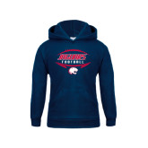 Youth Navy Fleece Hoodie-Jaguars Football In Ball