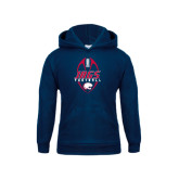 Youth Navy Fleece Hoodie-Jags Football Tall