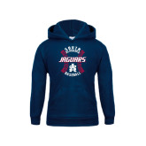 Youth Navy Fleece Hoodie-Jaguars Baseball Seams
