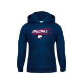 Youth Navy Fleece Hoodie-Jaguars Baseball Flying Ball